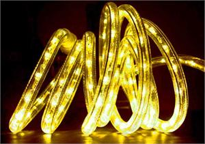 Stunning yellow LED Christmas rope light at LED Holiday.